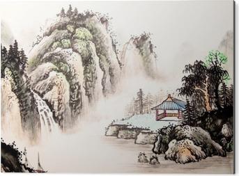 Aluminiumtavla Kinesiska landskapet vattenfärg painting__