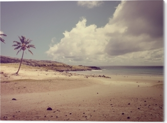 Aluminiumtavla Palmer på anakena strand, påskön