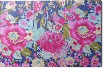 Aluminiumtavla Vintage stil gobeläng blommor tyg mönster bakgrund