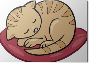 Uyuyan Kedi Yavrusu Cikartmasi Pixerstick Pixers Haydi
