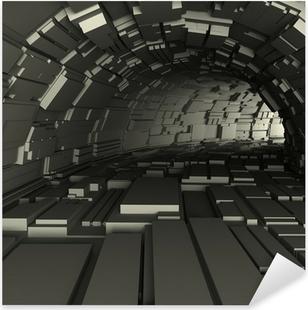 Pixerstick Aufkleber 3D-Darstellung von einem Tunnel machen