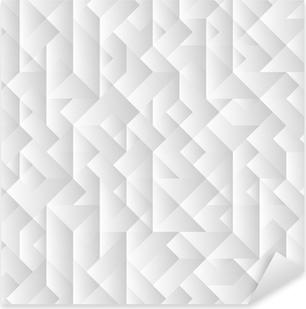 Pixerstick Aufkleber 3d grauen geometrischen Hintergrund
