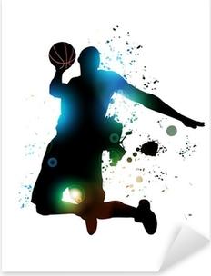 Pixerstick Aufkleber Abstrakte Basketball Player
