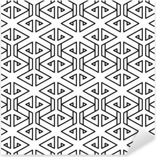 Pixerstick Aufkleber Abstrakte geometrische schwarze und weiße Hipster Mode Kissen Muster