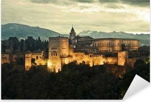 Pixerstick Aufkleber Alhambra Palace at Duskp