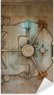 Pixerstick Aufkleber Alte Safe oder Gewölbe Tür mit Rostflecken