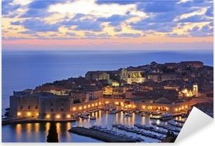 Pixerstick Aufkleber Alter Hafen in Dubrovnik, Kroatien