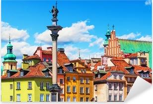 Pixerstick Aufkleber Altstadt in Warschau, Polen.