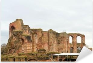 Pixerstick Aufkleber Antike römische Bäder Ruinen in Trier, Deutschland