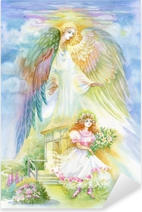 "Pixerstick Aufkleber Aquarell ""Angel""p"