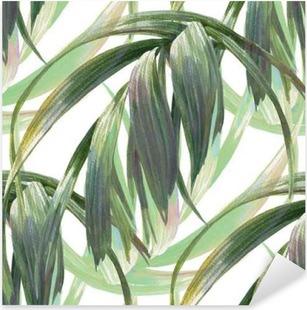 Pixerstick Aufkleber Aquarell-Illustration Blatt, nahtlose Muster auf weißen Hintergrund