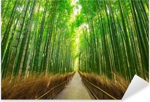 Pixerstick Aufkleber Arashiyama-Bambuswald in Kyoto Japanp