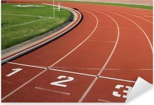 Pixerstick Aufkleber Athlectics verfolgen Lane Numbers