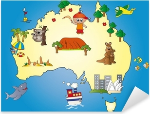 Pixerstick Aufkleber Australia Mapp