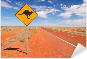 Pixerstick Aufkleber Australian endlosen Straßen