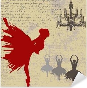 Pixerstick Aufkleber Ballerina Hintergrundp