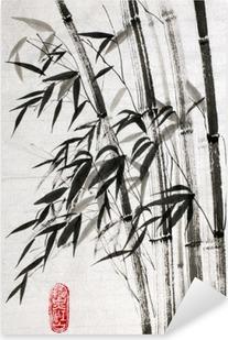Pixerstick Aufkleber Bambus ist ein Symbol für ein langes Leben und Wohlstandp