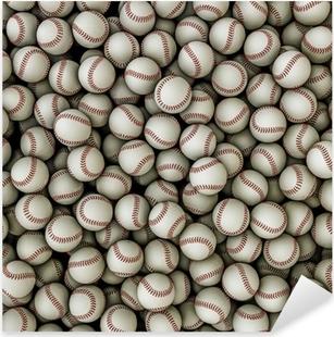 Pixerstick Aufkleber Baseballs Hintergrundp