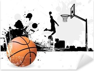 Pixerstick Aufkleber Basketball-Spielerp