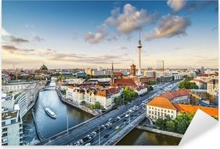 Pixerstick Aufkleber Berlin, Deutschland Nachmittag Stadtansicht