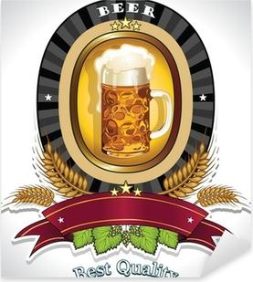 Pixerstick Aufkleber Bier ovalen Logo schwarz