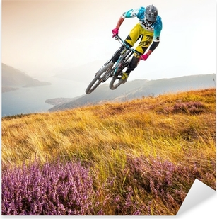 Pixerstick Aufkleber Biker & lago di Como