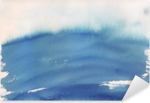 Pixerstick Aufkleber Blau ombre Aquarell Hintergrund