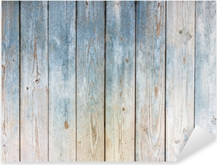 Pixerstick Aufkleber Blau Vintage-Holz-Hintergrundp