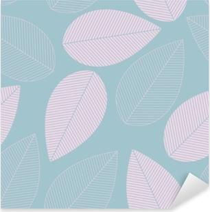 Pixerstick Aufkleber Blaue und rosa Farbe des nahtlosen Musters des Blattes.p