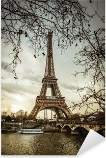 Pixerstick Aufkleber Blick auf den Eiffelturm