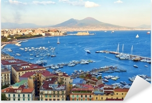 Pixerstick Aufkleber Blick auf die Bucht von Neapelp
