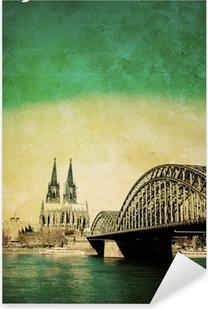 Pixerstick Aufkleber Blick auf Kölner Dom