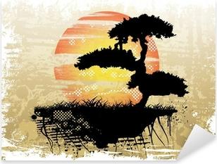 Pixerstick Aufkleber Bonsai Hintergrundp