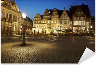 Pixerstick Aufkleber Bremen - Rathausplatz am Abend