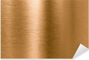 Pixerstick Aufkleber Bronze oder Kupfer-Metall-Textur Hintergrund