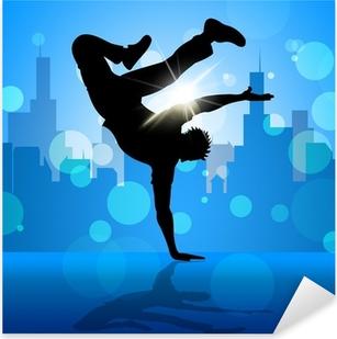 Pixerstick Aufkleber Bruch-Tänzer Zeigt Straßen-Tanzen und Breakdancingp