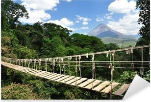 Pixerstick Aufkleber Brücke im Dschungel