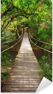 Pixerstick Aufkleber Brücke zum Dschungel, Khao Yai Nationalpark, Thailand