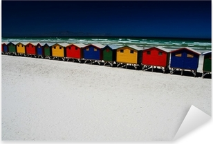 Pixerstick Aufkleber Bunte Strandhütten. Muizenberg, Südafrikap