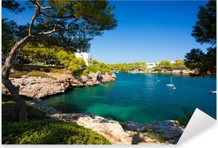 Pixerstick Aufkleber Cala d'Or Bucht, Mallorca, Spanienp