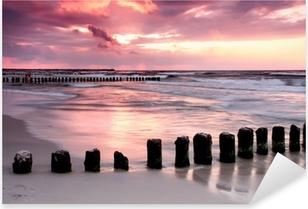 Pixerstick Aufkleber Calmness.Beautiful Sonnenuntergang an der Ostsee.
