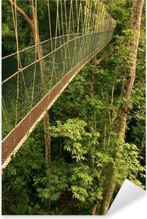 Pixerstick Aufkleber Canopy Walkway, Taman Negara National Park, Malaysia
