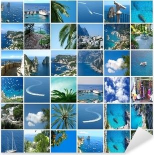Pixerstick Aufkleber Capri Insel. Collagen von vielen Fotosp