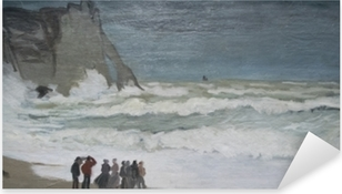 Pixerstick Aufkleber Claude Monet - Stürmisches Meer bei Étretat
