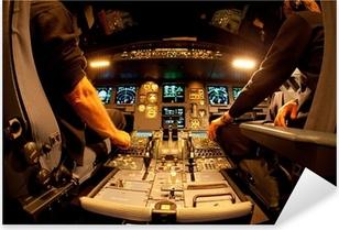 Pixerstick Aufkleber Cockpit bei Nacht