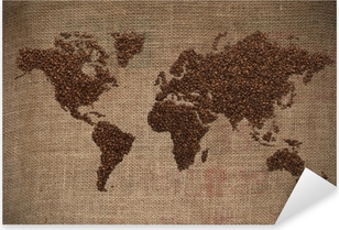 Pixerstick Aufkleber Coffee World Map