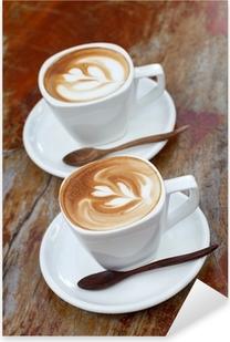 Pixerstick Aufkleber Cup of coffee latte