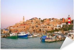 Pixerstick Aufkleber Der alte Hafen in Jaffa. Tel Avivp