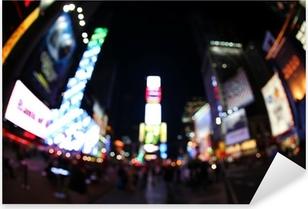 Pixerstick Aufkleber Der Times Square bei Nacht