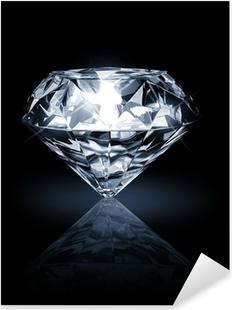 Pixerstick Aufkleber Diamant auf dunklem Hintergrund